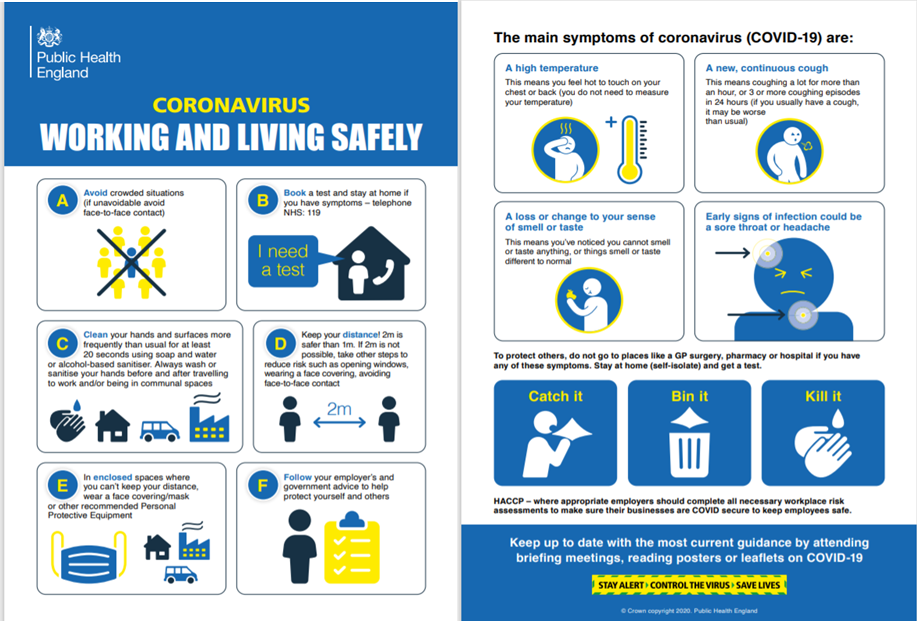 Coronavirus working and living safely resources
